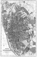 Vintage Map of Liverpool England (1890) BW