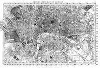 Vintage Map of London England (1860) BW