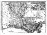 Vintage Map of Louisiana (1896) BW