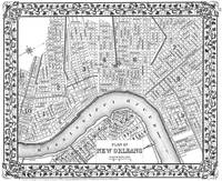 Vintage Map of New Orleans (1880) BW