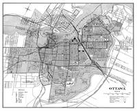 Vintage Map of Ottawa Canada (1915) BW