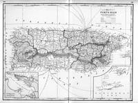 Vintage Map of Puerto Rico (1901) BW