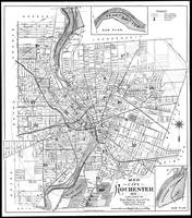 Vintage Map of Rochester NY (1901) BW