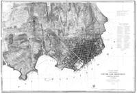 Vintage Map of San Francisco California (1858) BW