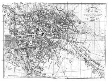 Vintage Map Of Berlin BW By Alleycatshirts Zazzle - Vintage map berlin