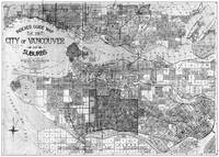 Vintage Map of Vancouver Canada (1920) BW