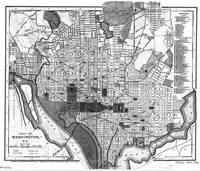 Vintage Map of Washington D.C. (1893) BW