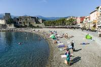 Collioure old town beach France
