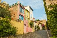 Back street in Collioure, France