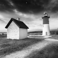 Black and White Lighthouse - Nauset light Art Prints & Posters by Dapixara Art