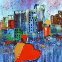 In the Heart of the City Art Prints & Posters by Maggie Bernet