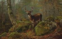 Arthur Fitzwilliam Tait 1819-1905 BUCK IN THE FORE