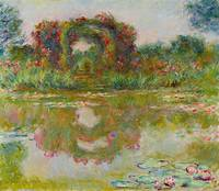 Claude Monet 1840 - 1926 THE ARCHES OF ROSES, Give