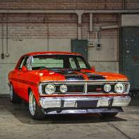 Red XY Ford Falcon GTHO Art Prints & Posters by Stuart Row
