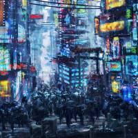 """""""cyberpunk city"""" by seerstuff"""
