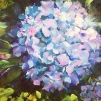 Petite Blue Hydrangea by Beth Charles