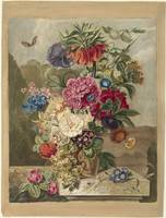 Flower arrangement, Anthonie van den Bos, 1778 - 1