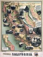 Unique Map of California (1888)