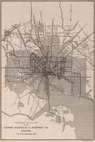 Vintage Baltimore Transit Line Map (1900)