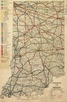 Vintage Map of The Indiana Railroad System (1896)
