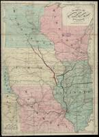 Vintage Midwestern United States Railroad Map