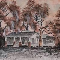 Old House Watercolor Painting Art Prints & Posters by Derek McCrea