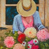 Cut Dahlias Art Prints & Posters by Beth Charles