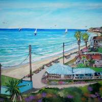 Crystal Cove Beach Cottages Art Prints & Posters by Teresa Dominici