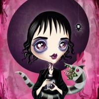 """Strange and Unusual - Lydia Deetz"" by sandygrafik_arts"