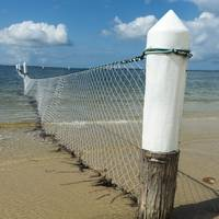 Shark Net Corner Post Perspective