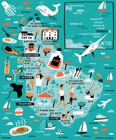 Barbados Map by Nate Padavick by They Draw & Cook & Travel