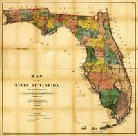 Map of the State of Florida (1856)