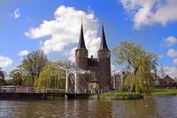 Old Delft City Towers Zuid Holland Netherlands