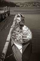 Sepia Vintage Mystic Seaport Boats Connecticut