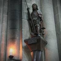 QVIS VT DEVS Archangel Michael Mont St. Michel Nor Art Prints & Posters by Joan Wilcox- Glanville