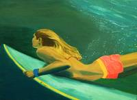 Surfer Girl Duck Dive