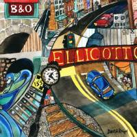 Historic Ellicott City: Steam and Stone Art Prints & Posters by David Ralph