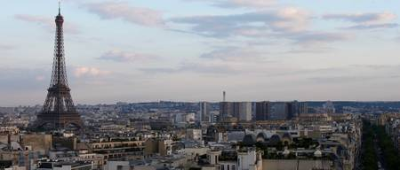 Eiffel Tower & Skyline From Arc De Triomphe