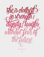 She is clothed Proverbs 31:25