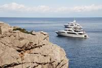 Super yachts at Sa Calobra, Majorca