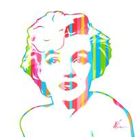 Marilyn Monroe Pop Art by William Cuccio