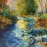 """Creekside Tranquility"" by HaileyWatermedia"