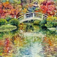 """Moon Bridge"" by HaileyWatermedia"