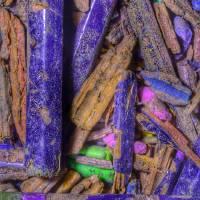 Crushed Art Pencils Colour-Field, No-1, Edit C Art Prints & Posters by Nawfal Johnson Nur