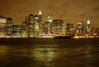 New York Skyline on A Cloudy Night