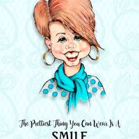 Prettiest Thing You Can Wear is a SMILE Art Prints & Posters by Joyce Geleynse