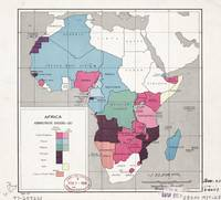 Map of Africa, Administrative Divisions (1957)