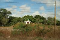 Yucatan Rural Shrine set back from Roadside