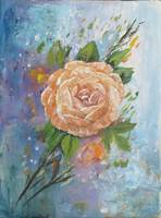 Floral Painting of a Casual Rose