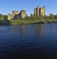 Trim Castle on the River Boyne in a spring dawn by Michael Stephen Wills